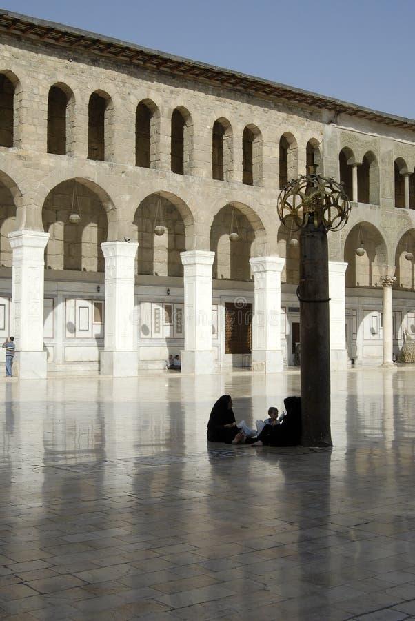 Umayyad moské i Damascus royaltyfri foto