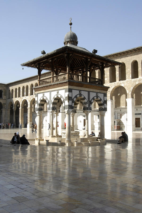 Umayyad moské i Damascus royaltyfria foton