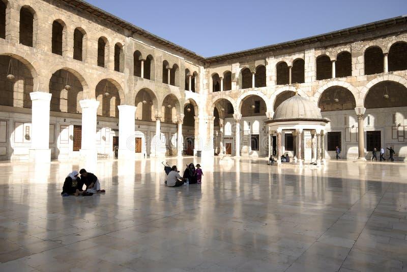 Umayyad moské i Damascus fotografering för bildbyråer