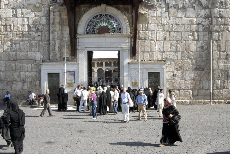Umayyad Mosque in Damascus stock photos