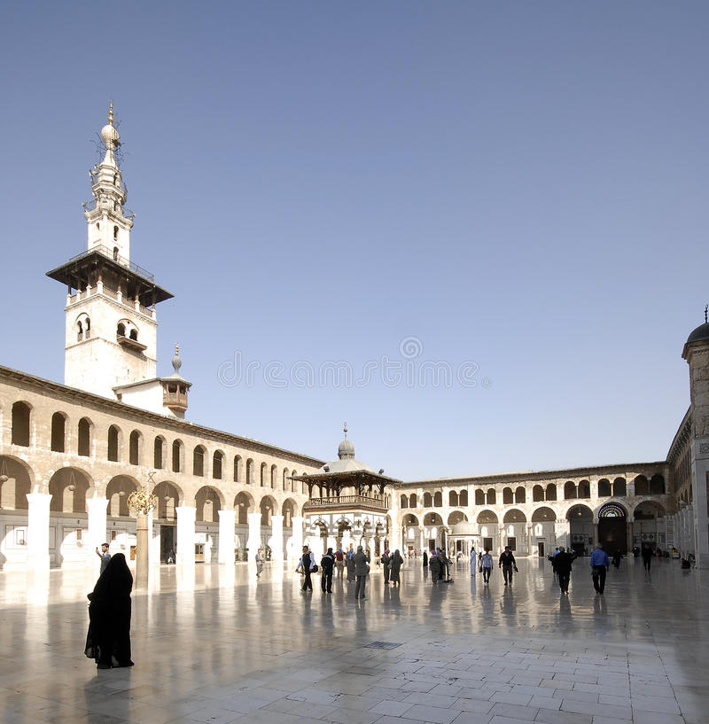 Umayyad Mosque in Damascus royalty free stock image