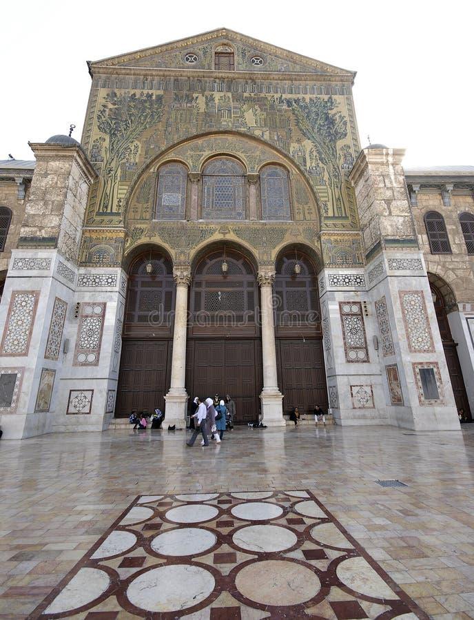 Umayyad Mosque in Damascus stock image