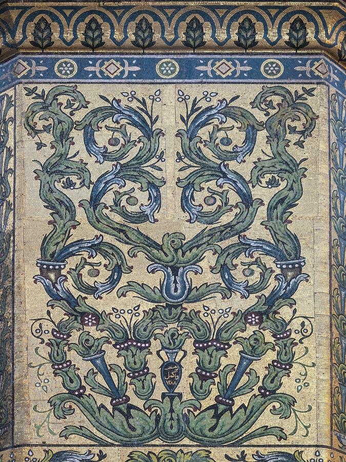 Umayyad Mosque mosaic in damascus syria royalty free stock photography