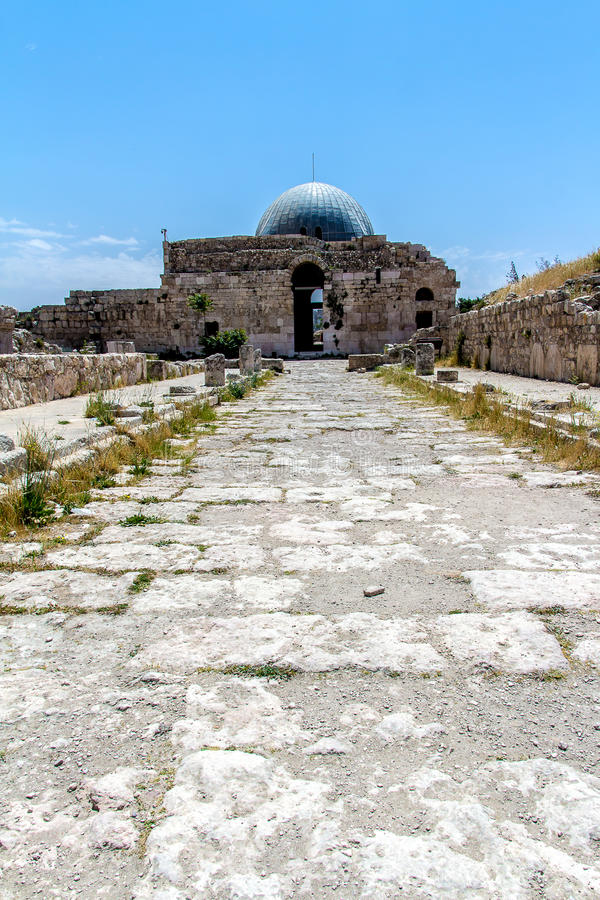 The Umayyad Palace In The Amman Citadel Jordan Stock Image - Where is jordan located