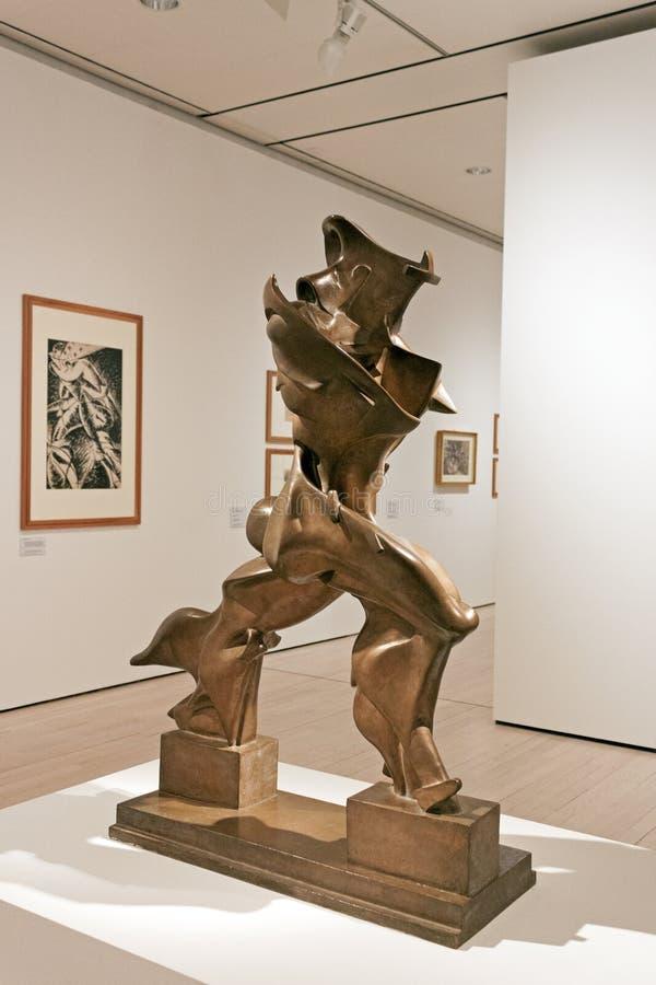 Umberto Boccioni, einzigartige Formen der Kontinuität im Raum lizenzfreie stockfotos