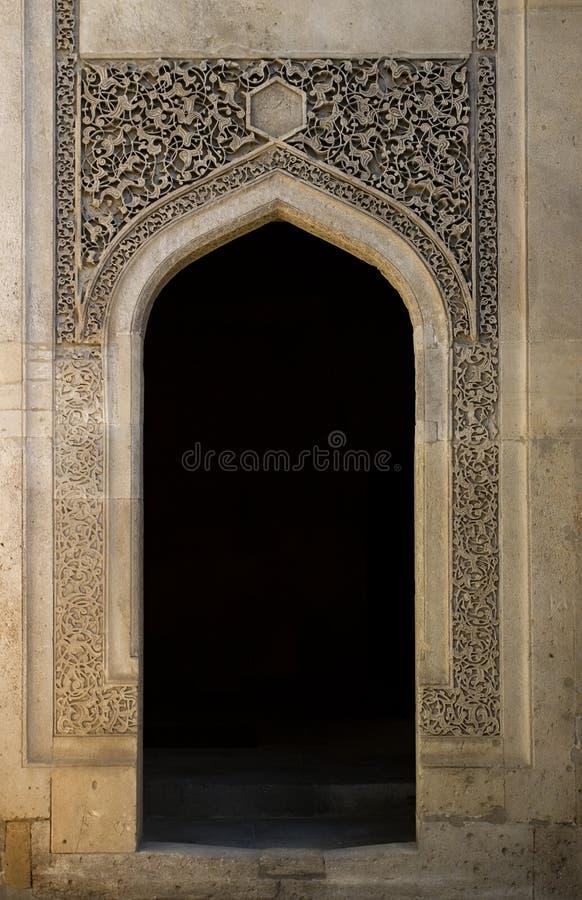 Umbral islámico adornado, Baku. fotografía de archivo