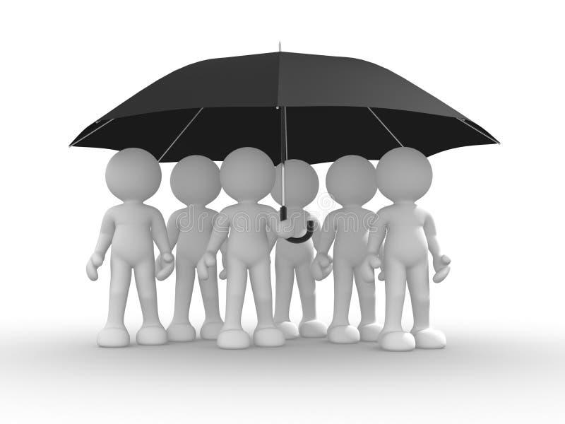 Download Umbrella stock illustration. Illustration of group, illustration - 23881438