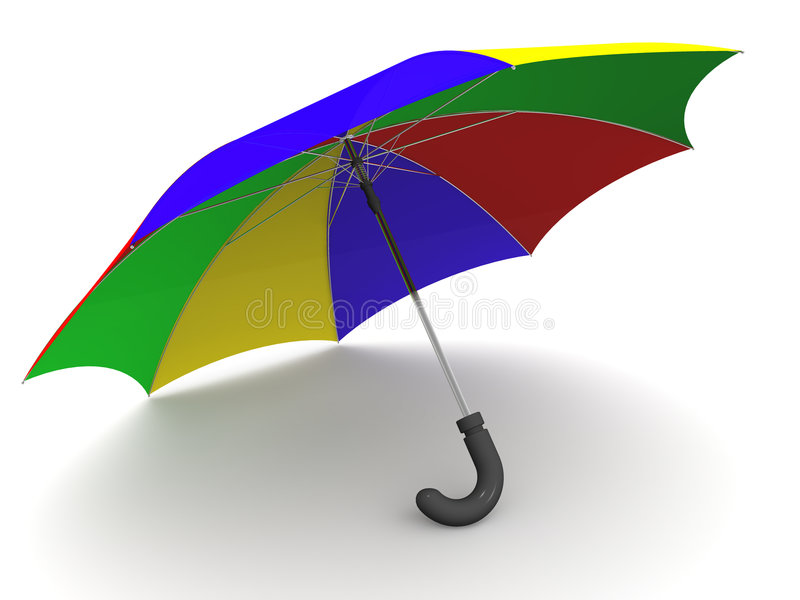 Umbrella. 3d vector illustration