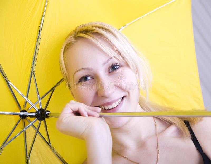 Download Umbrella stock photo. Image of hair, smile, rain, fashion - 4042328