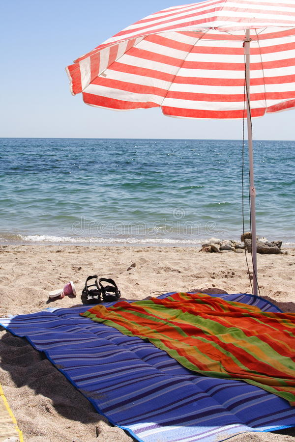 Download Umbrella on the beach stock image. Image of sunny, relaxation - 20029509