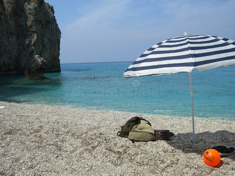 Download Umbrella on beach stock photo. Image of formation, empty - 8666944