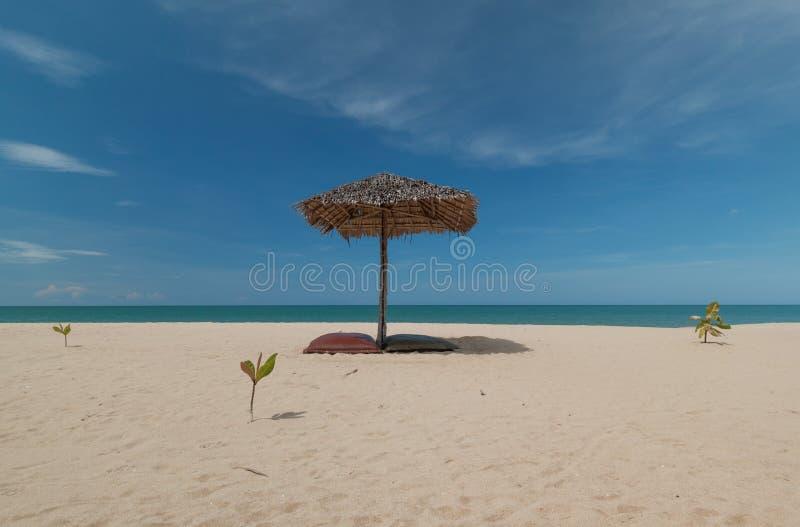 Umbrella and beautiful beach