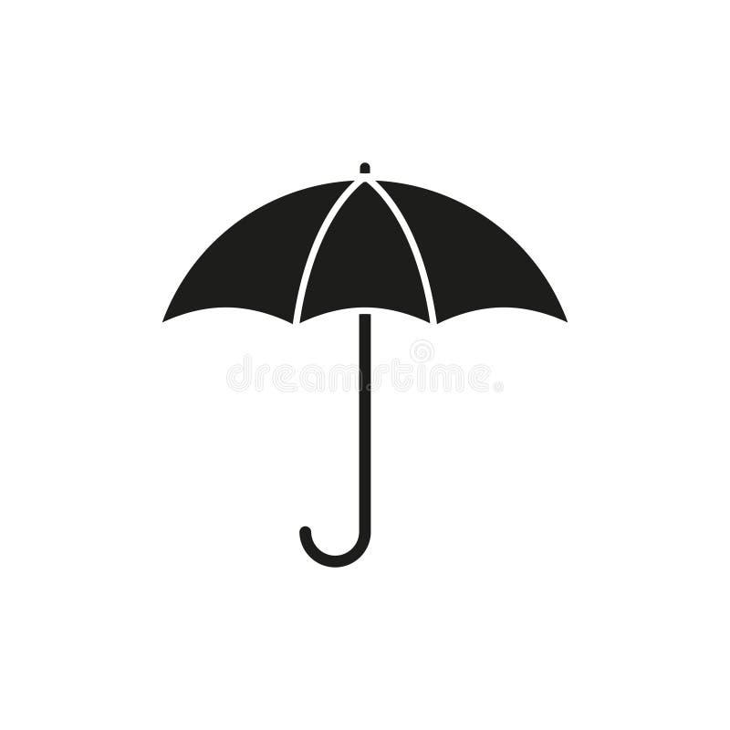 Umbrella is black icon. On the white background vector illustration