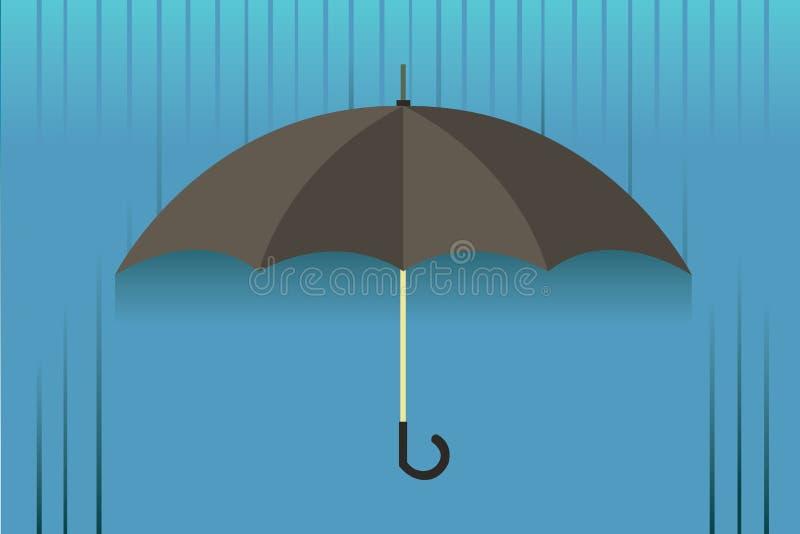 Umbrella black stock photo