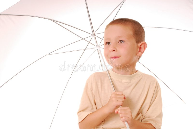Umbrella Boy 3 stock photography