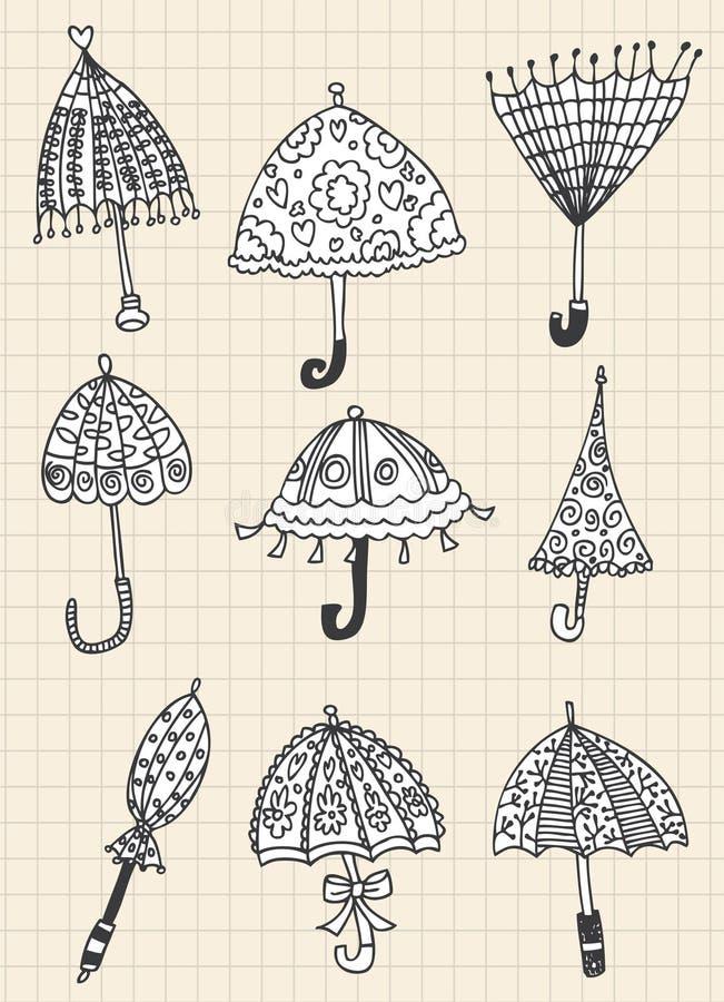 Download Umbrella Doodle Royalty Free Stock Image - Image: 17261486