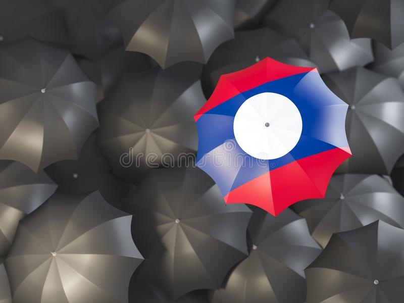 Umbrella with flag of laos vector illustration
