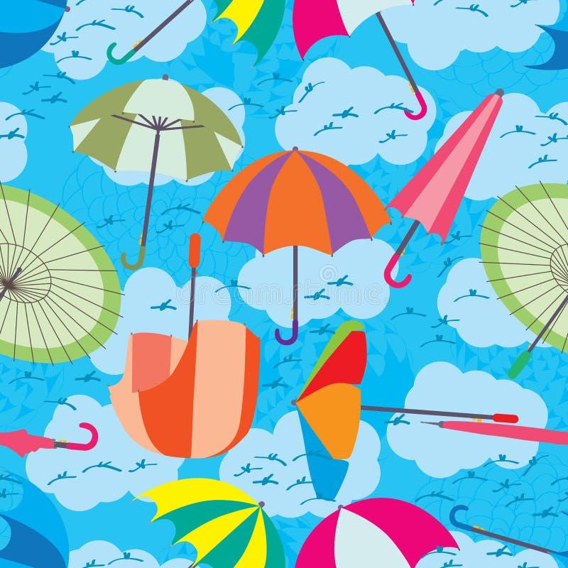 Free Umbrella Fly Sky Seamless Pattern Stock Photos - 43177103
