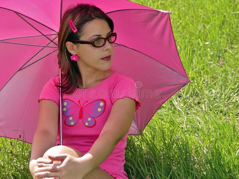 Download Umbrella girl stock photo. Image of life, hollyday, summer - 75644