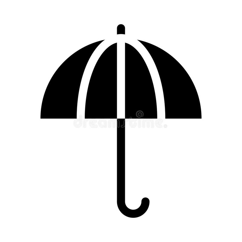 Umbrella icon stock illustration