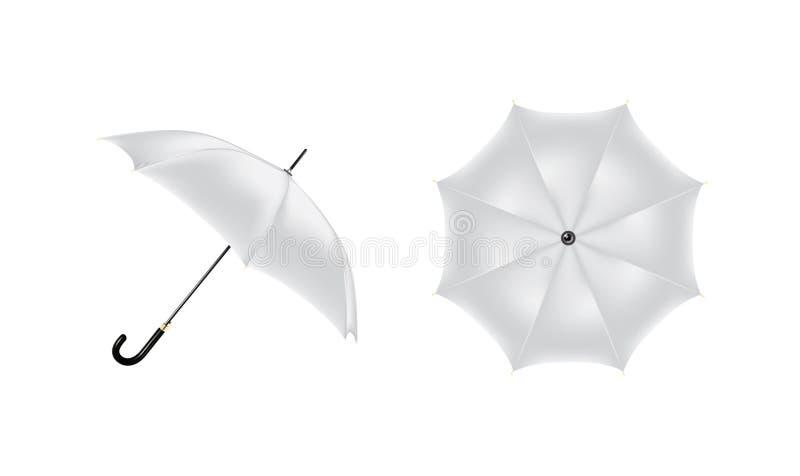 Vector drawing of gray umbrellas stock photos