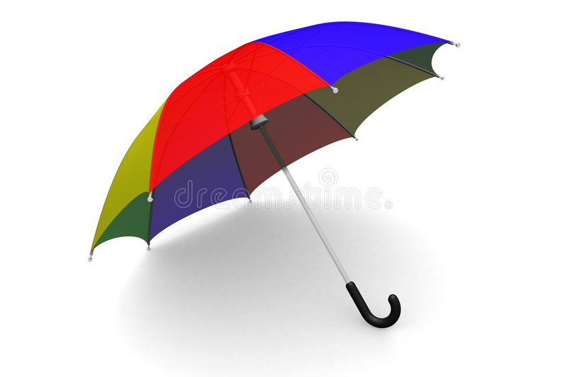 Umbrella on the ground vector illustration