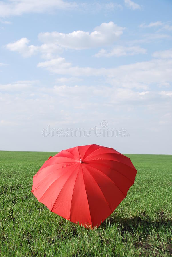 Umbrella heart. Help to open your senses let disclosed heart over their heads your favorite umbrella in the form of heart is very original valentines stock photography