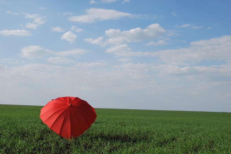 Umbrella heart. Help to open your senses let disclosed heart over their heads your favorite umbrella in the form of heart is very original valentines royalty free stock photos