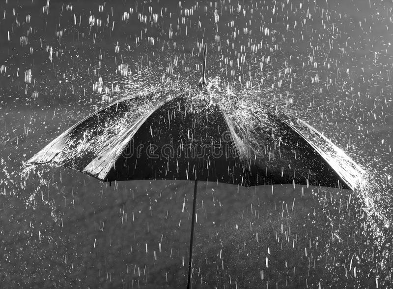 Download umbrella in heavy rain stock image image of light pattern 47750379