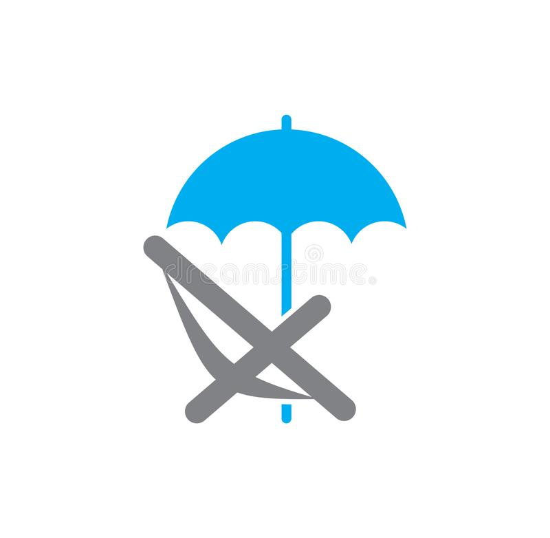 Umbrella icon on background for graphic and web design. Simple illustration. Internet concept symbol for website button. Or mobile app royalty free illustration
