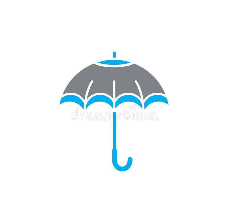 Umbrella icon on background for graphic and web design. Simple illustration. Internet concept symbol for website button. Or mobile app vector illustration