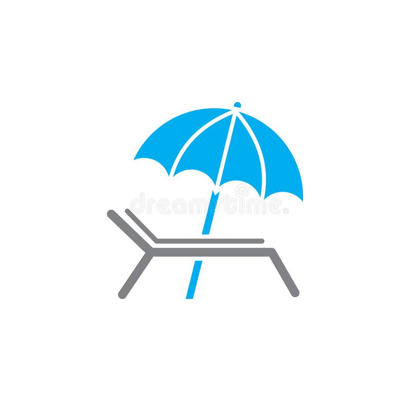 Umbrella icon on background for graphic and web design. Simple illustration. Internet concept symbol for website button. Or mobile app stock illustration
