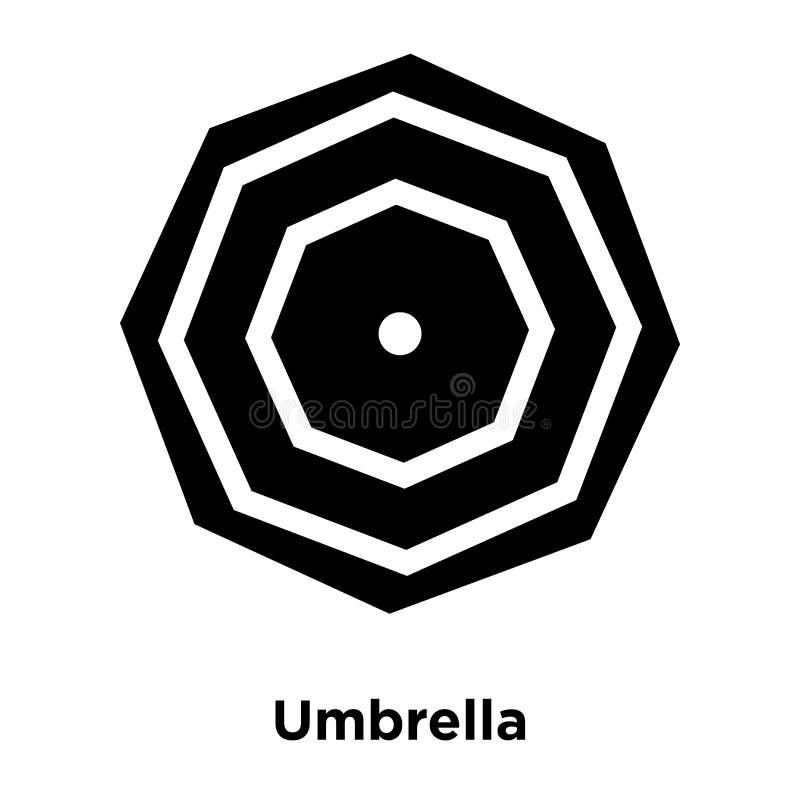 Umbrella icon vector isolated on white background, logo concept. Of Umbrella sign on transparent background, filled black symbol stock illustration
