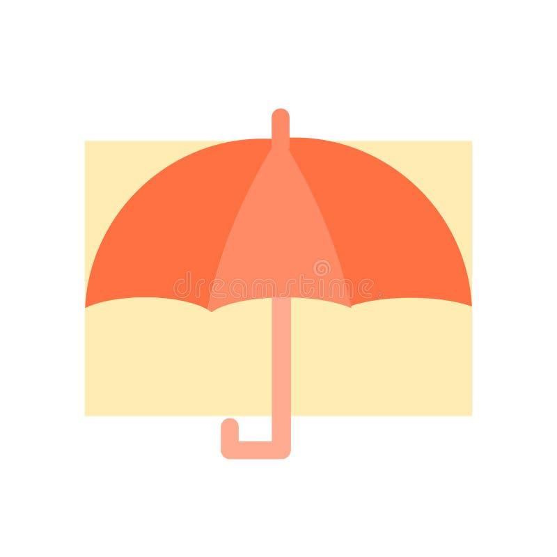 Umbrella icon vector isolated on white background, Umbrella sign , insurance symbols stock illustration