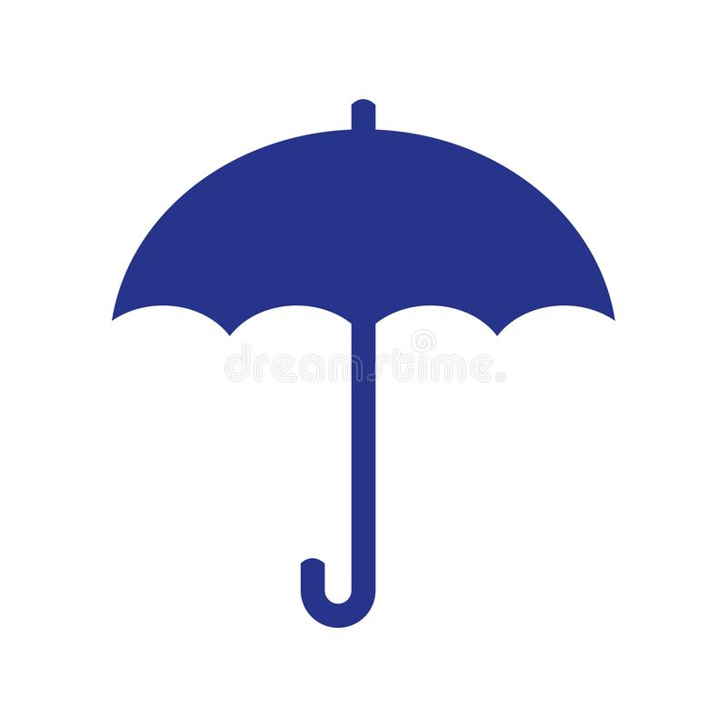Umbrella Icon flat design stock illustration
