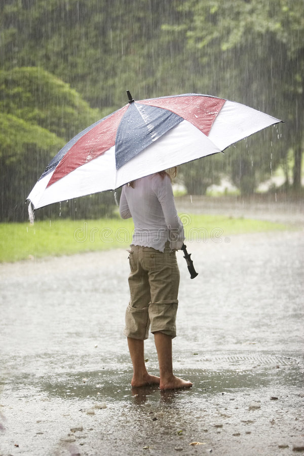 Free Umbrella In The Rain Stock Photos - 1402273