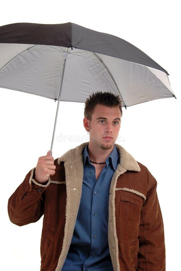 Download Umbrella and jacket stock image. Image of jacket, leather - 1069601