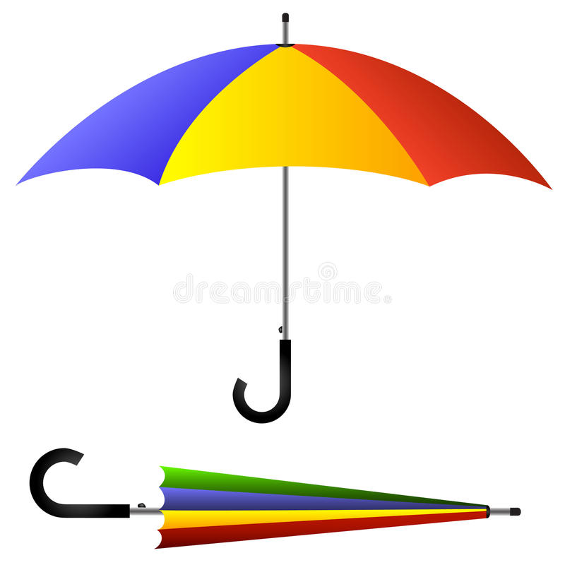 Download Umbrella, open and closed stock vector. Image of seasonal - 23938332