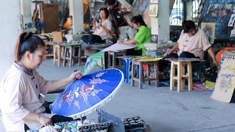 Umbrella Painter stock photography