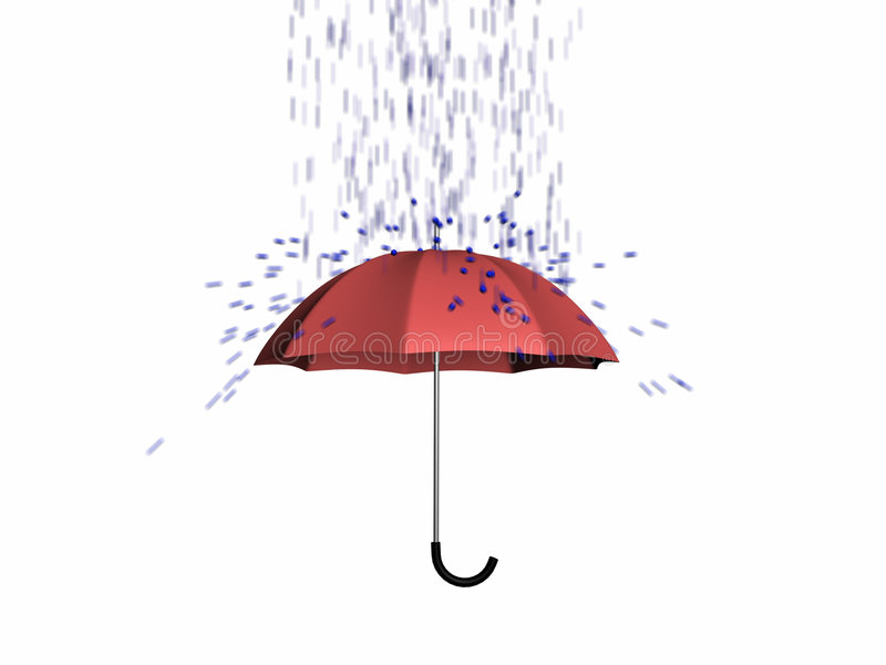 Download Umbrella Protect From Rain 3d Stock Illustration - Image: 9181555