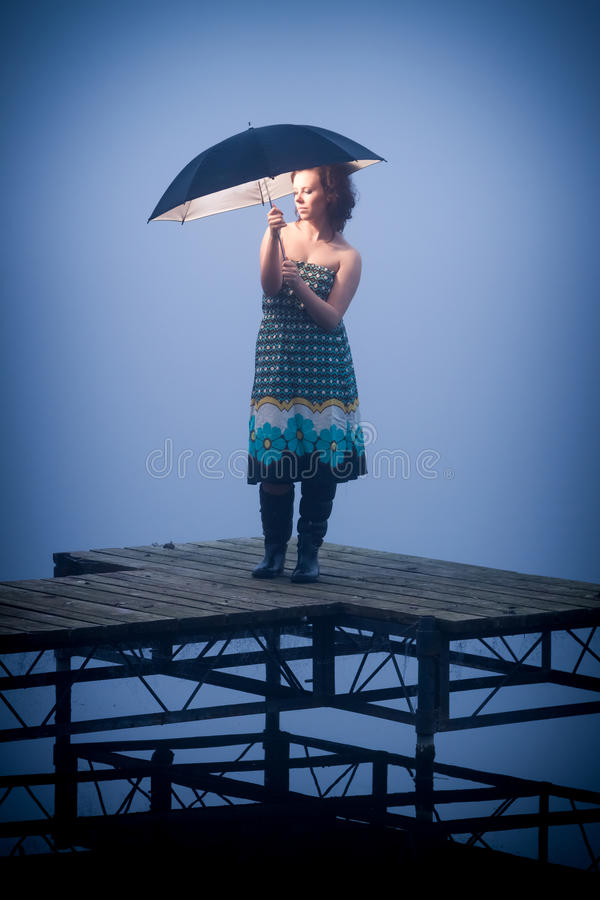 Download Umbrella protects woman stock image. Image of resting - 27480247