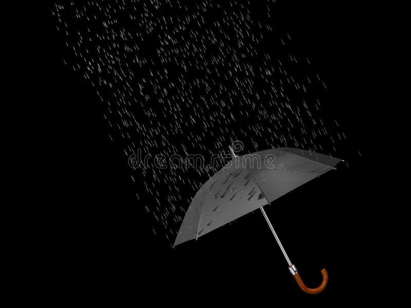 Umbrella and rain 2 vector illustration