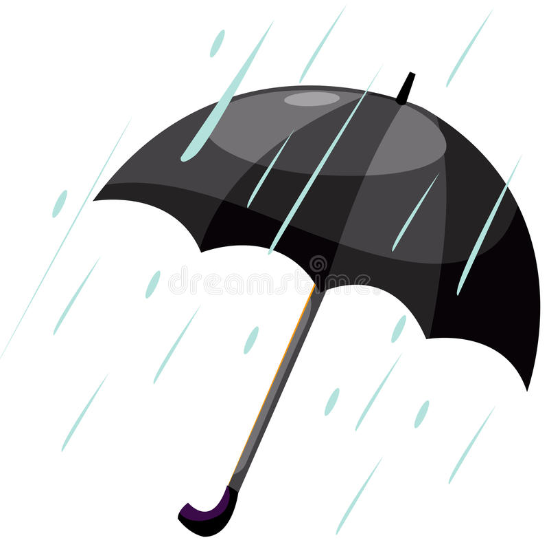 Umbrella With Rain Royalty Free Stock Photos