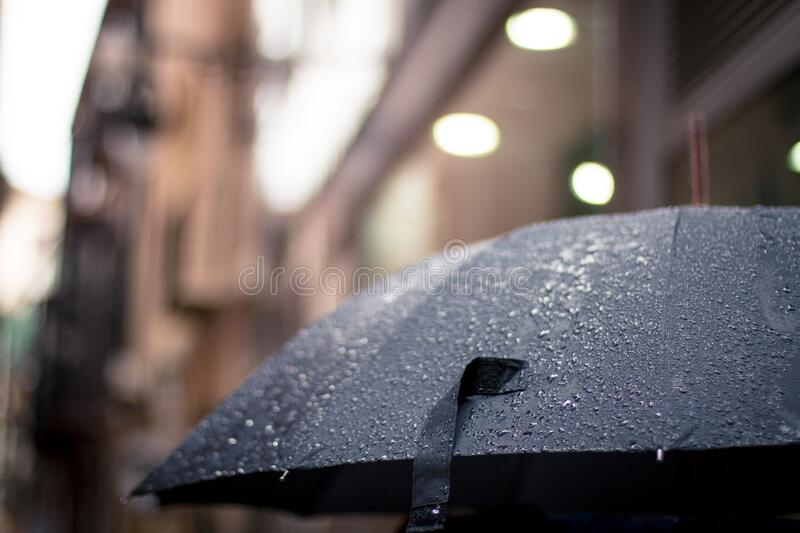 Umbrella In The Rain Free Public Domain Cc0 Image