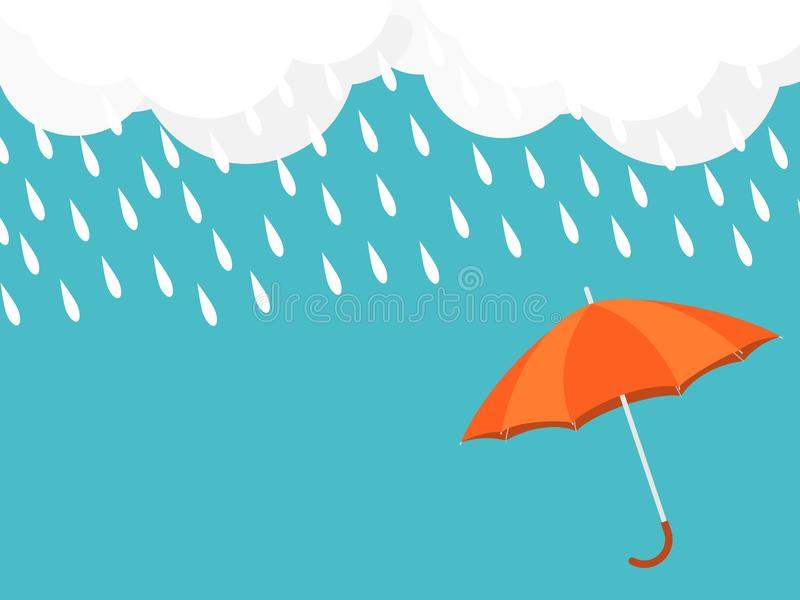 Umbrella rain drop sky cloud vector vector illustration