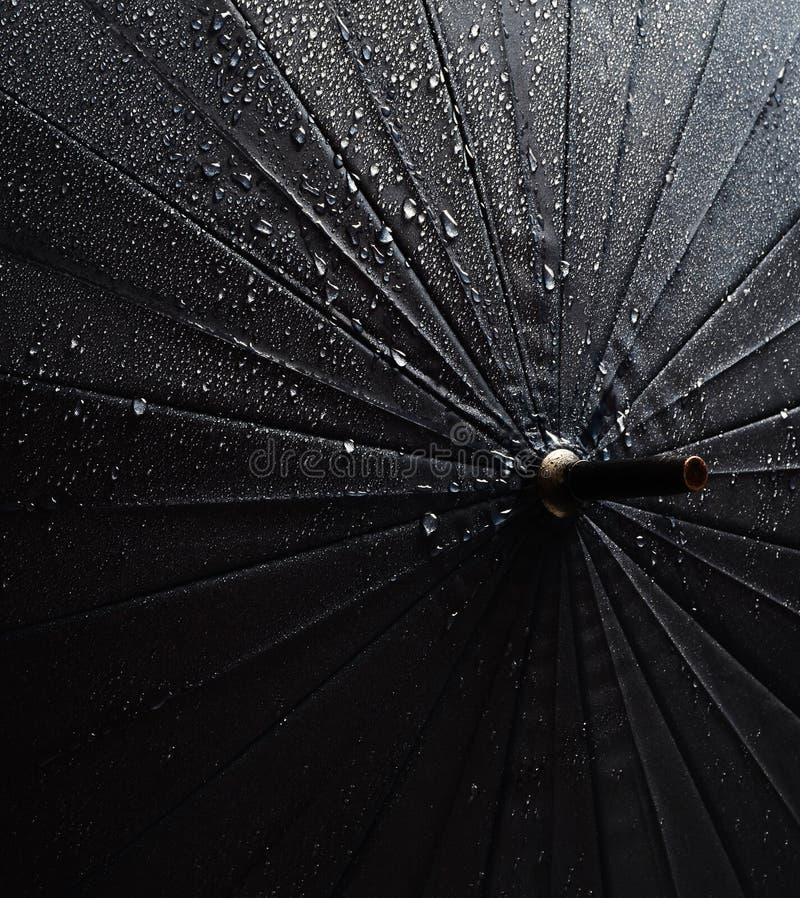 Umbrella in the rain drops.  stock image