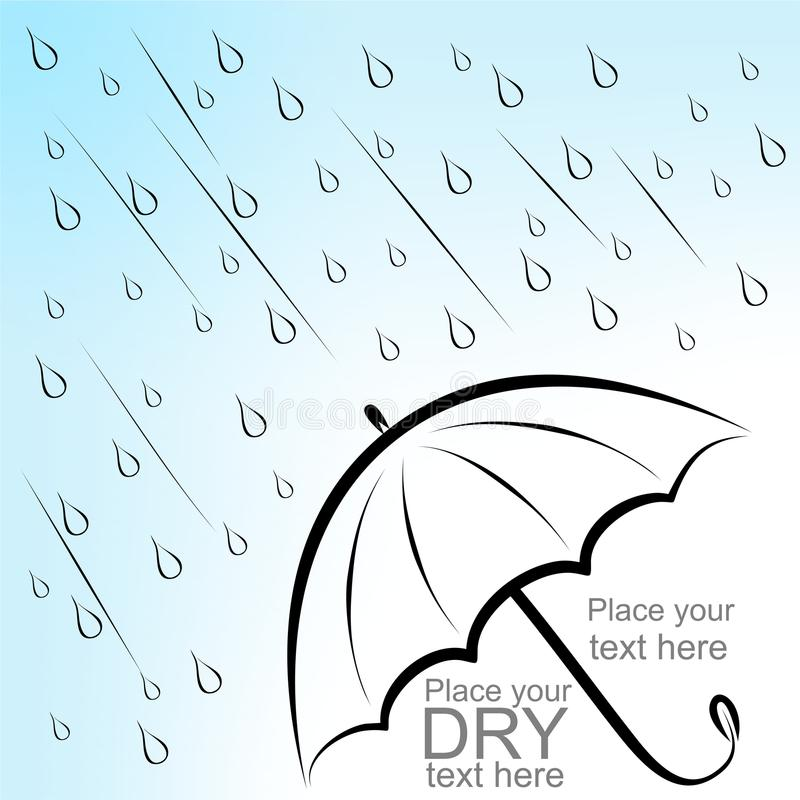 Download Dry text under umbrella stock vector. Image of curve - 32904254