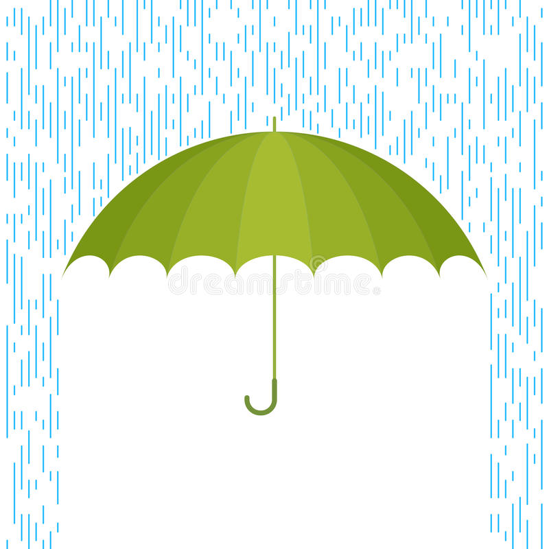 Umbrella and rain F vector illustration