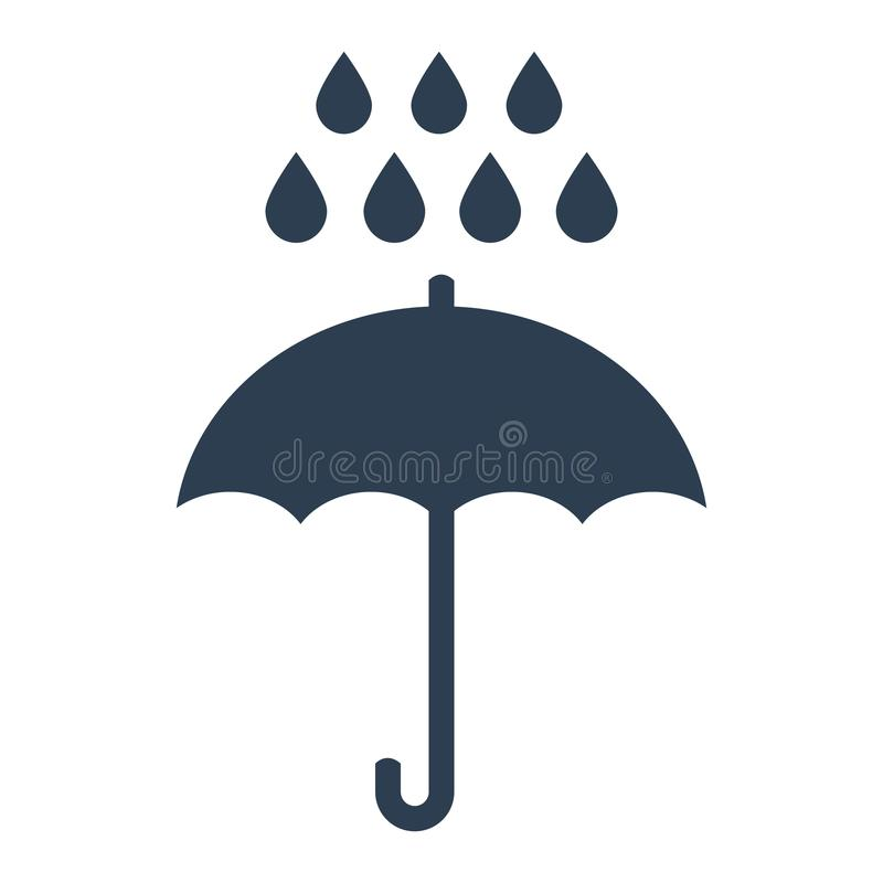 Umbrella rain icon on white background. stock illustration