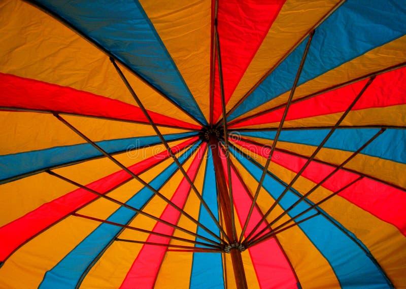 Umbrella Shade. The colorful shade of an umbrella at the Dixie Classic Fair in North Carolina stock image